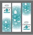 christmas banners set with design elements in vector image vector image