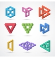Colorful impossible shapes elements vector image vector image