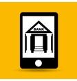 concept saving money bank building vector image