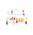data analysis strategy concept people characters vector image