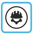 Development Helmet Icon In a Frame vector image vector image