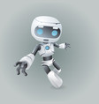 dinamic robot holds out his hand technology vector image vector image