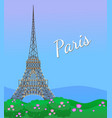 eiffel tower in paris post card paris poster vector image vector image