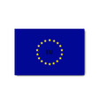 flag eu with shadow on blank background vector image