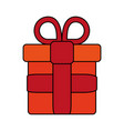 gift flat vector image vector image