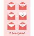 greetings letter envelopes vector image vector image