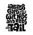 hand drawn lettering about pet vector image