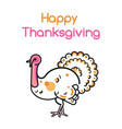 happy thanksgiving day design with turkey bird vector image vector image
