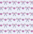 heart and decorative bow background vector image vector image