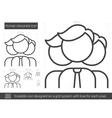 Human resources line icon vector image vector image