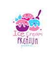 ice cream premium product logo design emblem for vector image