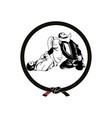 jiu jitsu logo vector image vector image