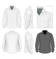 Mens button down shirt long sleeve design template vector image vector image