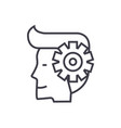 mind processman with gears line icon sign vector image vector image