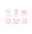 mother day greeting labeles and logos set vector image vector image