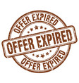 Offer expired stamp vector image
