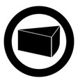 piece of cake icon black color in circle vector image vector image