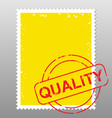 postage stamp quality vector image