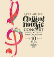 poster concert classical music with treble clef vector image