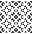 repeating abstract monochrome circle pattern vector image vector image