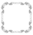 ribbon frame hand drawn sketch vector image