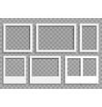 set empty photo frames vector image vector image