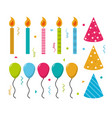 set of party elements vector image vector image