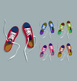 sneakers drawing set vector image vector image
