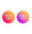 sticker gradient sale vector image