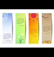 Vertical bookmark season vector image vector image