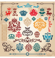 vintage heraldry elements vector image