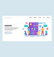 web site design template project vector image vector image