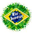welcome to rio de janeiro banner vector image