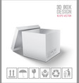 white open box vector image