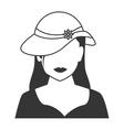woman profile silhouette icon vector image