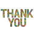 words thank you with falling leaves vector image vector image