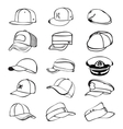 cap set isolated on white hat icon baseball rap vector image