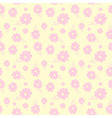 colorful flowers seamless background pastel vector image