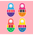 Matryoshka Doll Set Of Four vector image
