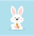 white cute rabbit vector image
