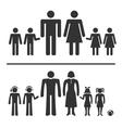 Man woman boy and girl icons vector image