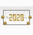 2020 happy new year greeting card design holidays vector image
