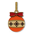 ball ornament christmas related icon image vector image
