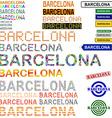 Barcelona text design set - Catalonian version vector image vector image