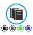 books rounded icon vector image