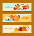 breakfast brunch concept set of banners vector image vector image