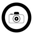 camera icon black color in circle vector image