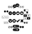 check mark icons set simple style vector image