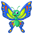 cute butterfly cartoon flying vector image vector image