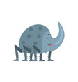 cute cartoon rhinoceros beetle character vector image